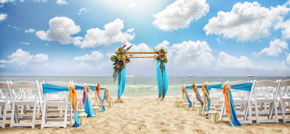 beach wedding ceremony panache style