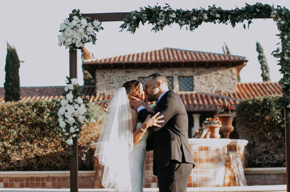 White Rose and Navy Country Club Wedding