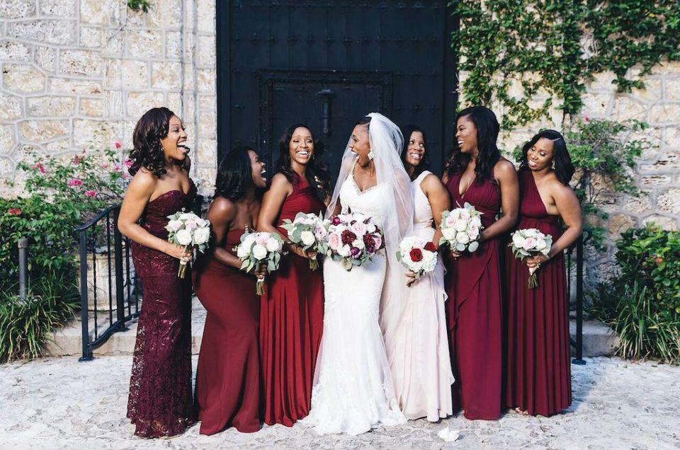 Organic Elegance in Burgundy Accented Wedding