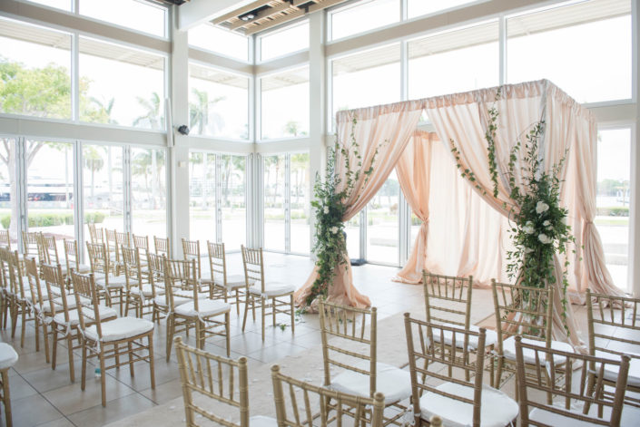 West Palm Beach Lake Pavilion Wedding Ceremony