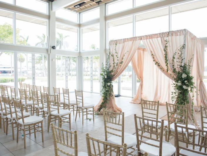 West Palm Beach Lake Pavilion Wedding Ceremony