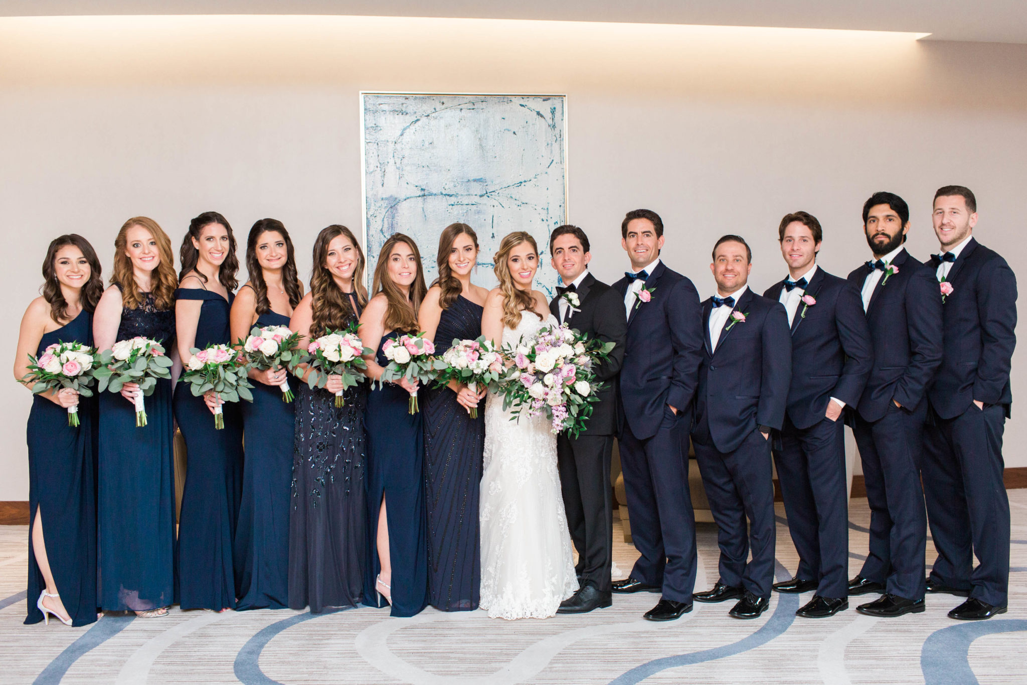 Bridal party at conrad fort lauderdale wedding